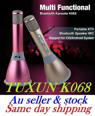 K068 Wireless Bluetooth Microphone For Andriod,IPhone,Tablets,Ipad -Pink