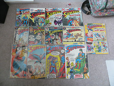 Collection Of Silver & Bronze Age Superman Comics All Shown