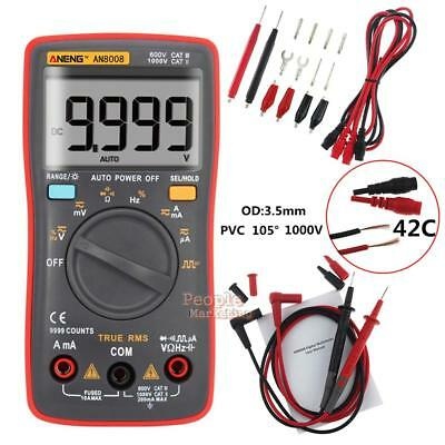 AN8008 True RMS Multimeter 9999 Count Square Wave Spannung Amperemeter Tester