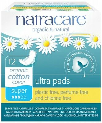 NATRACARE Ultra Wings Super 12 pads
