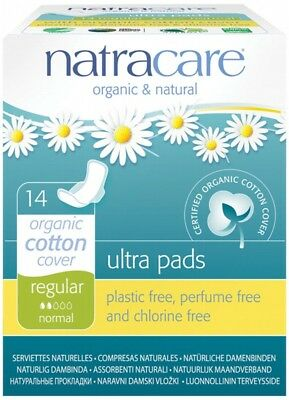NATRACARE Ultra Wings Reg 14 pads