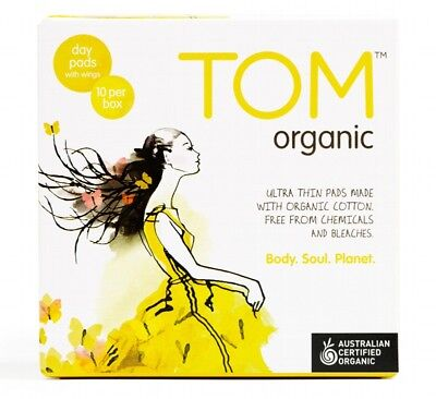 TOM ORGANIC Pads Ultra Thin Wings x10