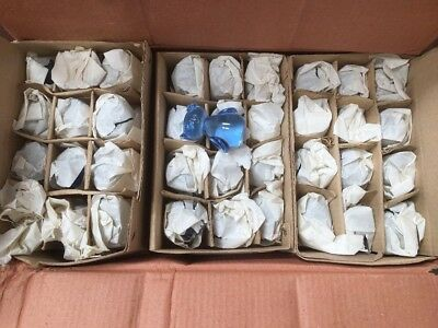 NEW Wholesale Job Lot Gifts Giftware 70 x Glass Blue Owl Figurines