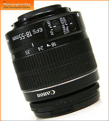 Canon EF-S 18-55mm F3.5-6 Manual Focus  Image Stabilizer II Zoom Lens Free UK PP
