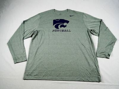 NEW Nike Kansas State Wildcats - Gray/Purple Dri-Fit Long Sleeve Shirt (