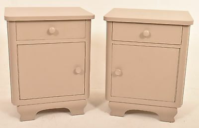 A Pair Of 20th Century Antique Art Deco Painted Bedside Cabinets