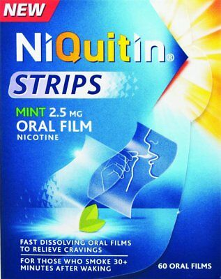 Niquitin Mint Nicotine Oral Film Strips  (60 oral films )