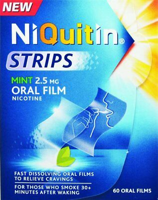 Niquitin Mint Nicotine Oral Film Strips  (60 oral films )...expiry: 02/18