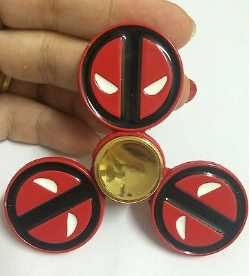 Marvel Comics Deadpool Face Spinner Fidget Toy Bearing Hand Hero Spinners Gift