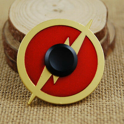DC Superhero The Flash Hand Spinner Finger Fidget EDC Game Metal Gyro Toy