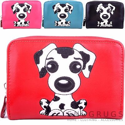 Ladies / Womens / Girls Faux Leather Purse / Money / Coin Holder with Dog Design