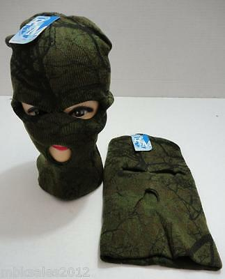 Wholesale 96pc Lot Hardwoods Camo Camouflage Winter Knit 3 Hole Ski Mask