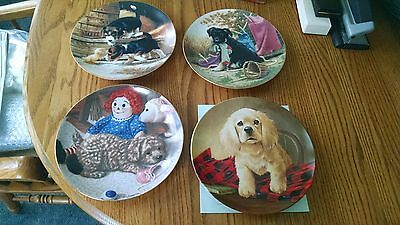4 Puppy Plates Puppy Playtime Hanging Out Jim Lamb