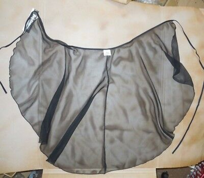 NWT BODY WRAPPERS 7952 Black Long Wrap Skirt Petite/Small Adult Ballet Lyrical