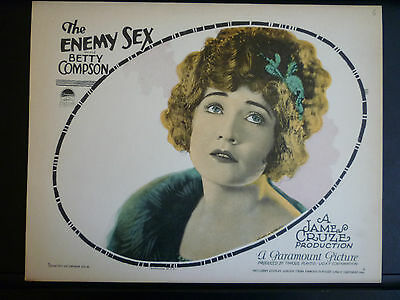 1924 The Enemy Sex - Silent Exploitation - Rare Vintage Lobby Card In Exc- Cond