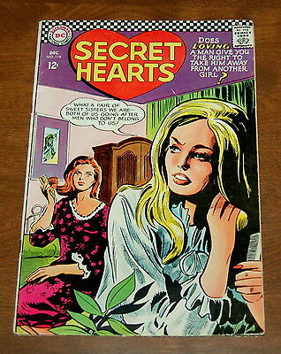 Secret Hearts #116 December 1966 GD/VG Gene Colan cover art Silver Age Romance