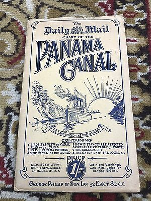 daily mail chart of the panama canal ! george philip chart