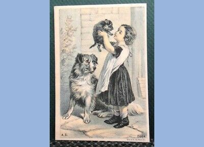 antique VICTORIAN TRADE CARD NOBLE SEWING MACHINE CO ERIE PA ws eck KUTZTOWN PA
