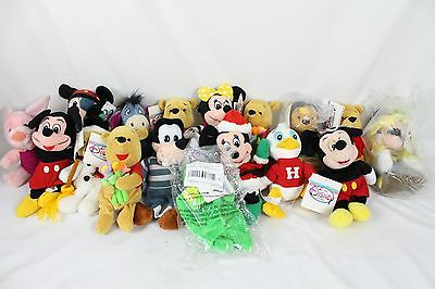 Huge 17 Disney Beanbag Plush Lot Collection w/ Tags Winnie the Pooh Mickey Mouse