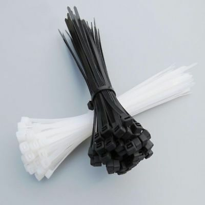 100pcs 2.5x300mm Nylon Plastic Zip Trim Wrap Cable Loop Ties Wire Self-Locking
