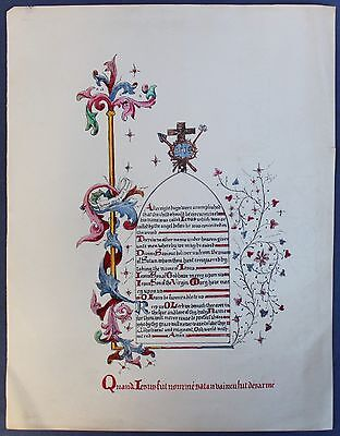 Mhand Painted Victorian Gothic Manuscript Paintings / Letters
