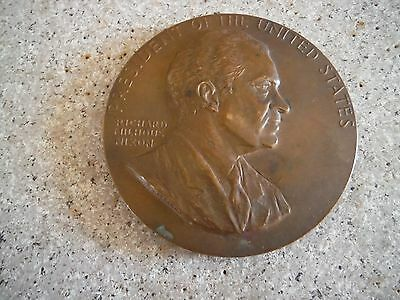 "3"" President Of The United States Richard Milhouse Nixon Inaugurated Bronze Coin"