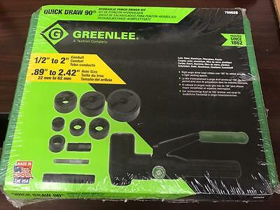 NEW* Greenlee 7906SB Quick Draw 90 Hydraulic Punch Driver and Kit