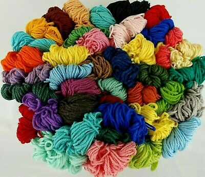 Aunt Lydias Heavy Rug Yarn 70-180 YD Skeins Rayon Cotton 40 COLORS Vtg You Pick
