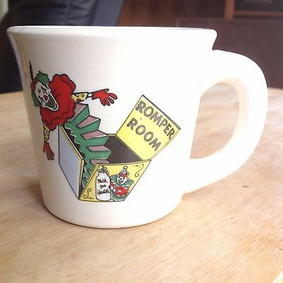 "Vintage ""Romper Room"" Mug Cup ""Milk for Health"" with Jack in the Box - 1960s TV"