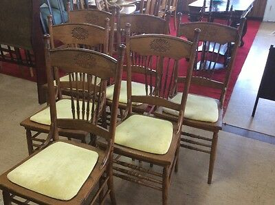 ANTIQUE SET OF 6  Dinning Chairs