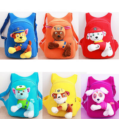 Paw Patrol Baby Kids Children Toy Bag Plush Soft Kindergarten Backpack Skye Zuma