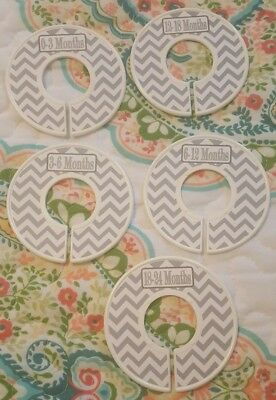 closet dividers for baby boy chevron grey and white