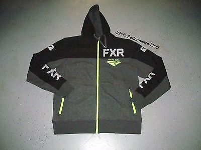 FXR Men's Black & Heather Gray Ride Co Zip Up Hoodie  L XL 2X 181111-0610-13