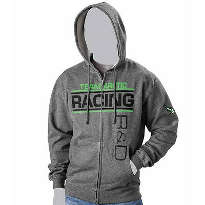 Arctic Cat Men's Team Arctic Racing R&D Full-Zip Hoodie Sweater - Gray 5259-67_