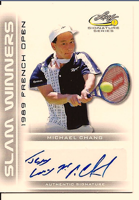 Michael Chang 2017 Leaf Signature Series Tennis Slam Winners Auto