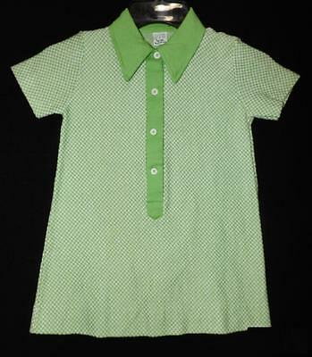 CUTE RETRO VTG 60s 70s GIRLS BUSTER BROWN KNIT SHIRT SCHOOL DRESS NEW OLD 6