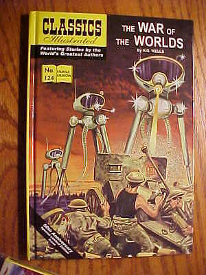 CLASSICS ILLUSTRATED #124 THE WAR OF THE WORLDS SPECIAL HARDCOVER BOOK  FN to NM