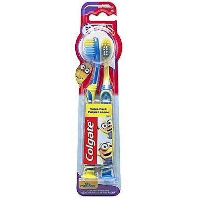 5 Pack Colgate Kids Minions Manual Toothbrush 2 Count Each