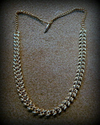 """Vintage Collectible 16"""" Herringbone Heavyweighted Necklace   -  MK"""