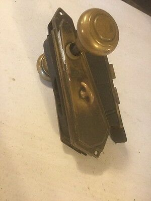 Vintage Antique Brass Door Lock,knobs ,face Plates