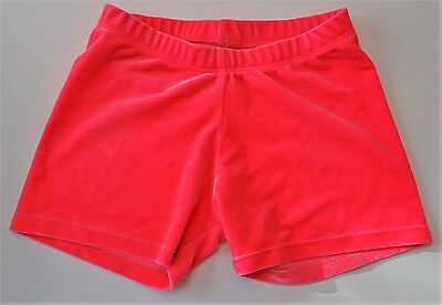Destira Girl's Size Large L Pink Velour Shorts Dance Gymnastics EUC