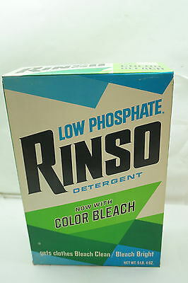 VINTAGE LAUNDRY DETERGENT RINSO LARGE 5 LB BOX UNUSED ADVERTISING 1970s PROP d