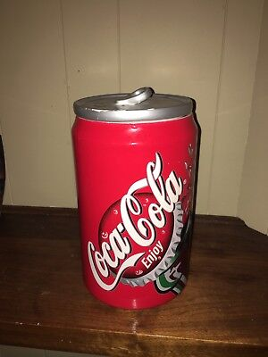 Large Ceramic Coca-Cola Can Cookie Jar Great Shape
