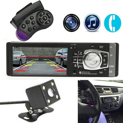"4.1"" 1DIN In-Dash Car MP5 Player Bluetooth Stereo Audio FM Radio w/ 4 LED Camera"