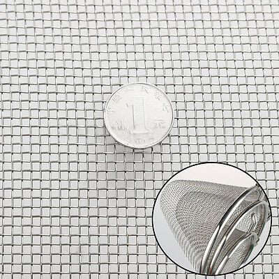 """30x60cm/ 12""""x24"""" Stainless Steel 8 Mesh 304 Silver Filtration Wire Cloth Screen"""