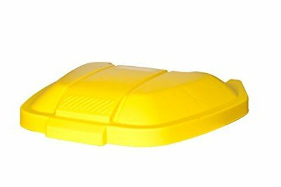 Rubbermaid 12902-244-71 - Tapa contenedor móvil, color amarillo