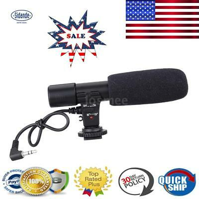 3.5mm Recording Microphone Mic for Canon Nikon DSLR Camera Video Camcorder- X7P3