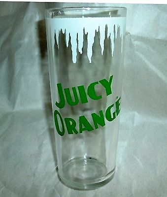 Juicy Orange Drugstore Drink Beverage Soda Fountain Advertising Glass Tumbler