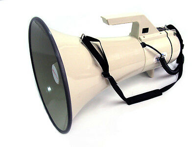 SOUNDART MEGAPHONE POWERFUL 45 WATTS *Siren, Whistle & Record/Playback* NEW!