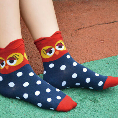 Fashion Animal Colorful Cartoon Socks Lady and Women's Cotton Funny Socks